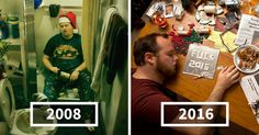 """In 2008 Mom Told Son To """"Sober Up"""" And Make His Own Christmas Cards, Son Delivers Every Year   Bored Panda"""
