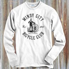 North Side Represent Long Sleeve T-shirt LS Chicago New York ATL Men Youth