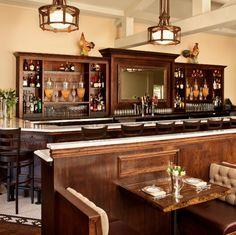 Marble & Walnut Bar