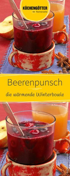 Beer punch Beerenpunsch Recipe for berry punch Lemonade Punch Recipe, Strawberry Lemonade Punch, Pineapple Lemonade, Drinks Alcohol Recipes, Punch Recipes, Non Alcoholic Drinks, Christmas Punch, Christmas Drinks, Berry Punch
