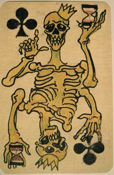 Playing cards by Slovenian artist Boris Kobe who was held by the Nazis as a political prisoner in Allach, which was a sub-camp of the Dachau concentration camp near Munich.