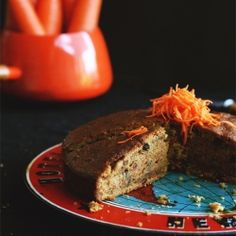 Healthy Carrot Cake with the goodness of rice bran oil, pecan nut, sultanas and spices.