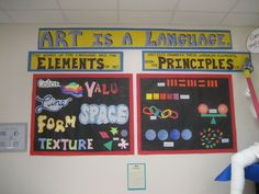Art is a language- great visual explanation of differences between elements and principles!