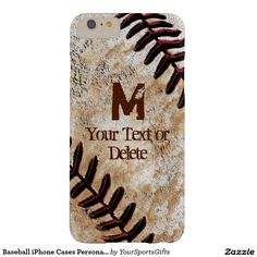 Really cool Baseball iPhone Cases Personalized iPhone 6 Plus Barely There iPhone 6 Plus Case http://www.zazzle.com/baseball_iphone_cases_personalized_iphone_6_plus_barely_there_iphone_6_plus_case-179387249509529373?rf=238012603407381242 For more personalized baseball gifts   CLICK HERE: http://www.Zazzle.com/YourSportsGifts   Visit our Website http://YourSportsGifts.com