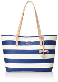 kate spade new york Hawthorne Lane Ryan Shoulder Bag, Hyacinth Blue/Cream, One Size