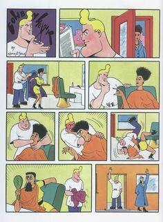 COWBOY HENK Bd Comics, Cartoon Jokes, Adult Humor, Comic Strips, Peanuts Comics, Weird, Geek Stuff, Comic Books, Family Guy