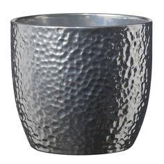 Soendgen Boston Silver Ceramic Flower Plant Pots, clay, silber, 14 x 14 x 13 cm Ceramic Plant Pots, Ceramic Flower Pots, Clay Pots, Large Indoor Planters, Diy Planters, Planter Pots, Bauhaus, Boston, Trendy Home Decor