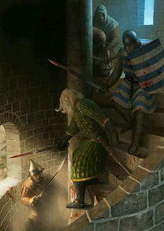 underground fantasy for your pleasure Fantasy Battle, Fantasy Warrior, Medieval Knight, Medieval Fantasy, Age Of Empires, Fantasy World, Fantasy Art, The Crow, Templer