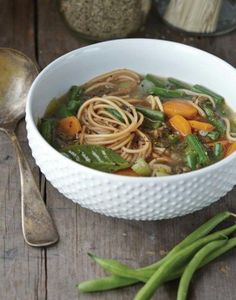 Chik'n lentil noodle soup | JL Fields | Vegan Pressure Cooking | PHOTO: Kate Lewis