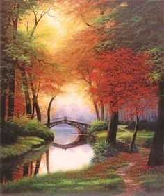 Charles White Beside still waters Fall – Odette – Join the world of pin Landscape Photos, Landscape Art, Landscape Paintings, Landscape Photography, Nature Photography, Autumn Painting, Autumn Art, Fall Pictures, Pictures To Paint