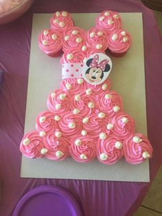 20 Pretty Picture of Cupcake Cakes For Birthdays . Cupcake Cakes For Birthdays Minnie Mouse Cupcake Cake Birthday Ideas In 2019 Minnie Mouse Minnie Mouse Cupcake Cake, Mini Mouse Cupcakes, Minni Mouse Cake, Minnie Mouse Birthday Cakes, Minnie Mouse Baby Shower, Cupcake Birthday Cake, Birthday Cake Decorating, Cupcake Cakes, Panda Cupcakes
