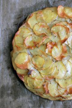 Kartoffel-Galette mit Zwiebeln