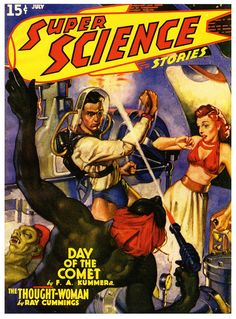Super Science Stories (July 1940), cover by Gabriel Mayorga