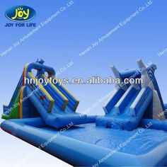 Factory Inflatable Water Slide With Pool/inflatable Pool Slides For Inground Pools $499~$7999