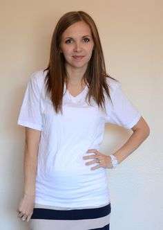 Take in a tshirt that's too big...includes tutorial on how to take in the sleeves!