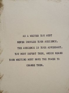 THE WRITER Typewriter quote on 5x7 cardstock by WritersWire, $6.00