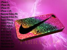 nike just do it rainbow glitter for iphone case, Samsung Galaxy Case, iPod Case, HTC Case, Blackberry Case, Sony Case on Etsy, $14.00