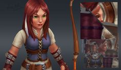 Hand painted texture low poly characters. Part 2. on Behance