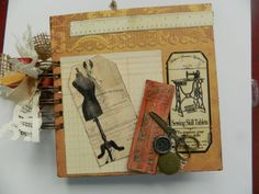 Vintage Sewing Journaling Scrapbook by JandKKreations on Etsy, $50.00