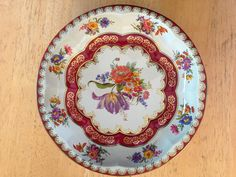 Vintage Daher Tin Tray bowl - Colorful FloralTheme by KitchandJunk on Etsy