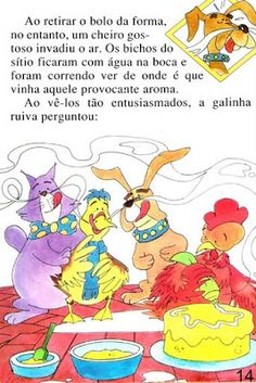 Página 14 do livro A GALINHA RUIVA Maine Coon, Tao, Winnie The Pooh, Disney Characters, Fictional Characters, Education, Comics, Books, Feelings Activities