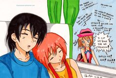 Serena: I cut my hair for no reason... Me: yes Serena, yes you did~ Ash & Misty: Zzzzzz♥️ Pokéshipping