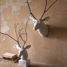 easiest DIY project ever tackled. Choose the wall hung or table top white ceramic deer mou...