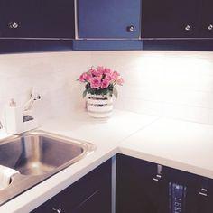 Den vasen fylt med roser✨ #Roser#Rosa#Kähler#KählerOmaggio #Kjøkken#kitchen#Epoq#Elkjøp