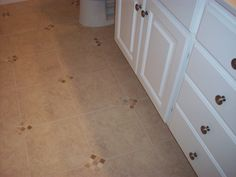 Accent tile for guest bath- dresses it up for minimal cost!