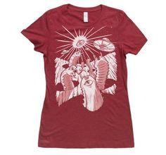 Women's Moon Worms vs. Technology by Jason Knudson!  #shirt #tshirt #artshirt #fashion #moon