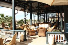 The Global Girl Travels: Outdoor terrace at The Sofitel Legend Old Cataract Hotel in Aswan, Egypt.