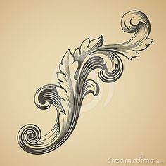 Vector vintage Baroque pattern design element by Somesun, via Dreamstime