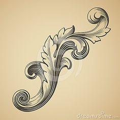 baroque  Google Image Result for http://www.dreamstime.com/vector-vintage-baroque-pattern-design-element-thumb24407245.jpg
