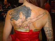 Cool Wonder Women Tattoo Design