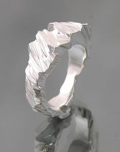 I love Janet Miller's rings which look like little silver glaciers.