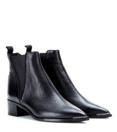 structured chelsea boots.