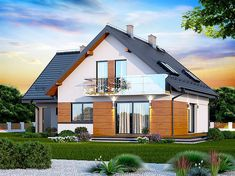 2 Storey House Design, Attic Rooms, Home Room Design, Facade House, Pool Houses, Home Fashion, House Rooms, Outdoor Structures, Mansions