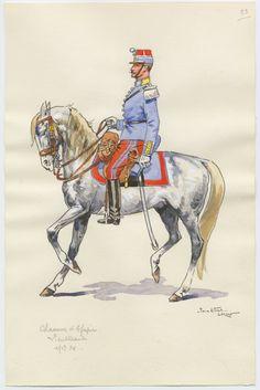 French; Chasseur d'Afriques, Lieutenant by P.A. Leroux