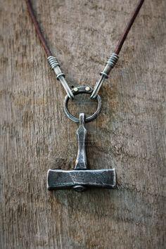 Forged Thor's hammer necklace by ~Waldgeist86 on deviantART