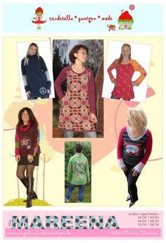Cinderella - MAREENA shirt en jurk | Naaipatronen.nl | zelfmaakmode patroon online