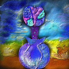 abstracte appel met vaas