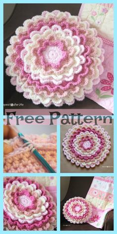 Beste häkeln kostenlose Muster Kleidung Projekte Ideen - Crochet - Leads For Amigurumi Crochet Pillow, Crochet Doilies, Crochet Flowers, Crochet Stitches, Diy Flowers, Crochet For Kids, Easy Crochet, Crochet Baby, Free Crochet