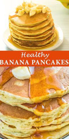 Banana Pancakes - This banana pancake recipe is truly a treasure. The pancakes taste incredible, the ingredient list -Healthy Banana Pancakes - This banana pancake recipe is truly a treasure. The pancakes taste incredible, the ingredient list - Keto Recipes, Dessert Recipes, Cooking Recipes, Healthy Recipes, Flour Recipes, Healthy Desserts, Easy Recipes, Dinner Recipes, Food Cakes