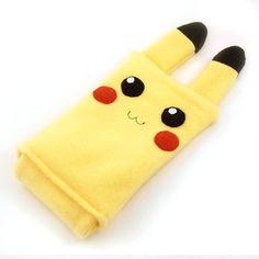 Pikachu Pokemon Nintendo DS case pouch fleece camera carrying case 3DS / DSi / DS Lite / PSP holder