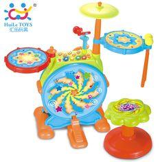 b33548a4c89 Kids Big Electric Toy Drum Set Chair