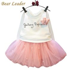 Lovely Girls White Tee Shirt and Pink Skirt With Rhinestone Clothes Set for Kids Girl Autmn Children Clothing Sets $17.19 => Save up to 60% and Free Shipping => Order Now! #fashion #woman #shop #diy www.bbaby.net/...