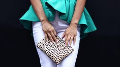 stacey ann loves in cameo and leopard clutch