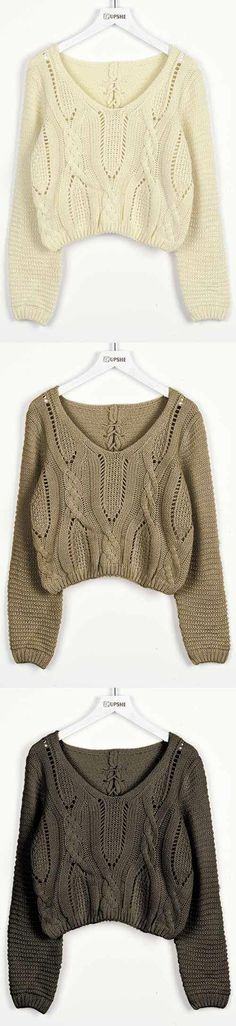 $21.99 for back to school! Pre-order Time! 7 Days for Shipping! This Hollow Crop Sweater always leads a lovely look. You'll be setting off will be everyone's style radar. Come and have a try at Cupshe.com !