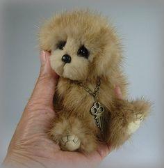 Handmade Mink Teddy Bear 5.5 Inch Webber by Custom by customteddys