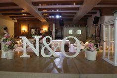 Initialen des Brautpaares - Heiraten im Seehaus am Riessersee, Garmisch-Partenkirchen, Bayern - Riessersee Hotel Resort - Wedding in Bavaria - Wedding initials of bride and groom